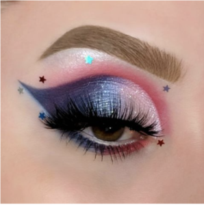 memorial day eye makeup with stars
