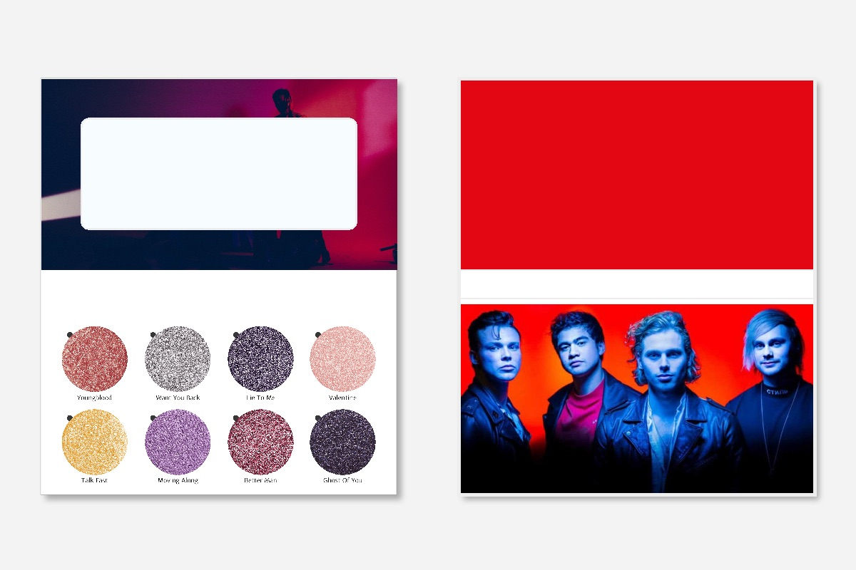 5sos youngblood palette - Beautonomy